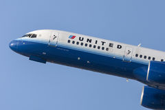 United Airlines Boeing 757 Images stock