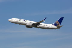 United Airlines Boeing 737-800 airplane Royalty Free Stock Photography