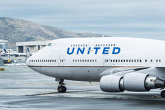 United Airlines Boeing airplane Stock Images