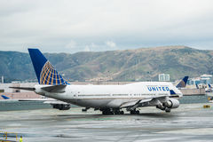 United Airlines Boeing airplane Stock Photography