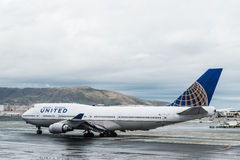 United Airlines Boeing airplane Royalty Free Stock Photo