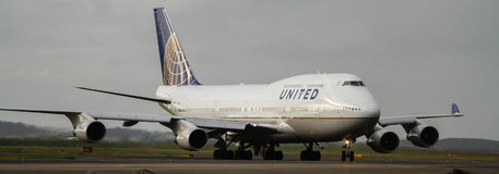 United Airlines Boeing 747 jet Stock Image
