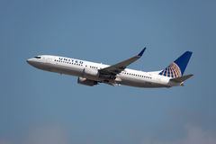 United Airlines Boeing 737-800 Royalty Free Stock Photo