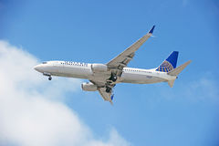 United Airlines Commercial Jet Stock Image