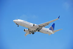 United Airlines Commercial Jet Royalty Free Stock Photography