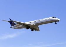 United Airlines exprès Image libre de droits