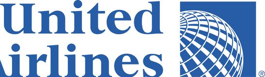 United Airlines logo icon. United Airlines, Inc., commonly referred to as United, is a major United States airline headquartered in Chicago, Illinois. United vector illustration
