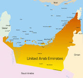United Arab Emirates. Vector color map of United Arab Emirates country royalty free illustration