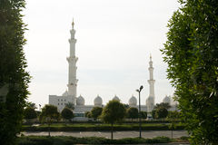 United Arab Emirates Abu Dhabi - December 2012: Sheikh Zayed Moské. Arkivfoto