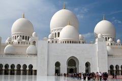 United Arab Emirates Abu Dhabi - December 2012: Sheikh Zayed Moské. Royaltyfri Bild