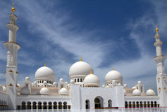 The United Arab Emirates. Abu Dhabi. The white mosque. Mosque of Sheikh Zayed in Abu Dhabi is the largest mosque in the United Arab Emirates and the sixth Stock Images