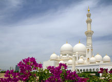 The United Arab Emirates. Abu Dhabi. The white mosque. Mosque of Sheikh Zayed in Abu Dhabi is the largest mosque in the United Arab Emirates and the sixth Royalty Free Stock Photos
