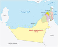 United arab emirates administrative map Stock Photos