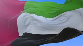 United Arab Emirates. Amazing detailed of United Arab Emirates waving flag stock video footage