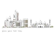 United Arab Emirates  background Royalty Free Stock Image