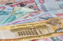 United Arab Emirates banknotes Stock Photo