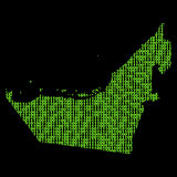 United Arab Emirates binary map Royalty Free Stock Image