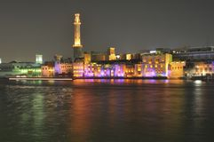 United Arab Emirates: Bur  Dubai at night Stock Photos