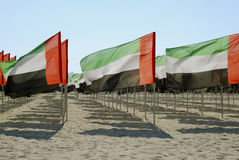 United Arab Emirates close-up flags view Royalty Free Stock Images