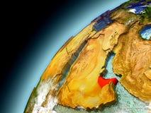 United Arab Emirates de la órbita de Earth modelo Imagen de archivo libre de regalías