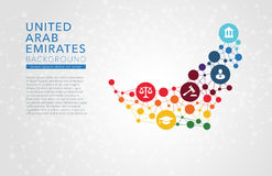 United Arab Emirates dotted vector background Royalty Free Stock Image