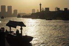 United arab emirates: dubai boat at the creek Royalty Free Stock Images
