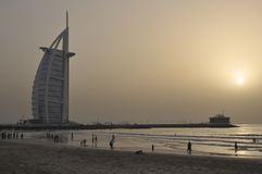 United Arab Emirates: Dubai Burj Al Arab Hotel Stock Photography
