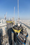 United Arab Emirates, Dubai, 05/21/2015, Damac Towers Dubai by Paramount, construction and building Royalty Free Stock Images