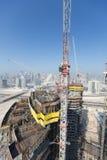 United Arab Emirates, Dubai, 05/21/2015, Damac Towers Dubai by Paramount, construction and building Royalty Free Stock Photography