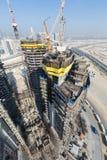 United Arab Emirates, Dubai, 05/21/2015, Damac Towers Dubai by Paramount, construction and building Royalty Free Stock Image