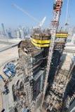 United Arab Emirates, Dubai, 05/21/2015, Damac Towers Dubai by Paramount, construction and building Royalty Free Stock Photos