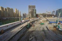 United Arab Emirates: Dubai; the futur metro. United Arab Emirates: Dubai view of the construction of dubai metro which must be finish around 2012 royalty free stock image