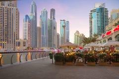 The United Arab Emirates. Dubai. Promenade Dubai Marina. Stock Image