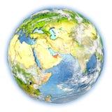 United Arab Emirates on Earth isolated Royalty Free Stock Photography