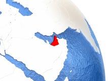 United Arab Emirates on elegant globe Stock Photography