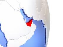 United Arab Emirates on elegant modern 3D globe Royalty Free Stock Image