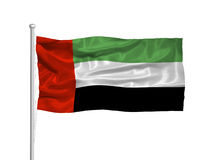 United Arab Emirates Flag 2 Stock Photography