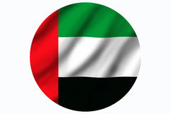 United Arab Emirates flag. Flag of United Arap Emirates isolated over white background Stock Photography