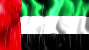 United Arab Emirates Flag Animation. Ultra HD, 3840x2160 Pixels, Realistic Flag Animation stock footage