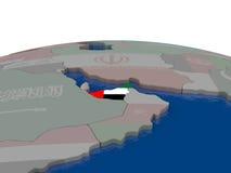 United Arab Emirates with flag Royalty Free Stock Photos