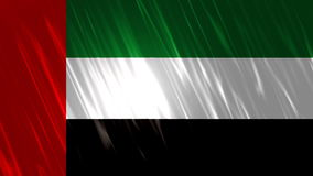 United Arab Emirates Flag Loopable Background. Ultra HD, 3840x2160 Pixels, Seamlessly Loopable Flag Animation stock video footage
