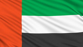 United Arab Emirates flag. stock video footage