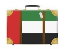 United Arab Emirates flag travel suitcase Stock Images