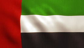 United Arab Emirates Flag. UAE flag of Dubai, Abu Dhabi and other United Arab Emirates Royalty Free Stock Image