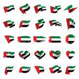 United Arab Emirates flag, vector illustration. On a white background vector illustration