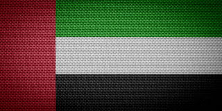 United Arab Emirates flags Royalty Free Stock Images