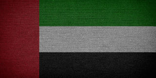 United Arab Emirates flags Stock Photography