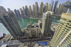 United Arab Emirates: Horizonte de Dubai; el puerto deportivo Imagenes de archivo
