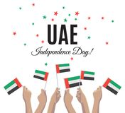 United Arab Emirates Independence Day greeting card. United Arab Emirates Independence Day placard, banner or greeting card. Vector illustration with UAE Stock Photos