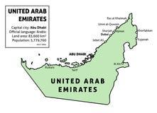 United Arab Emirates info Stock Image